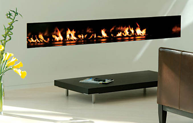 Spark Modern Fireplace Linear Burners