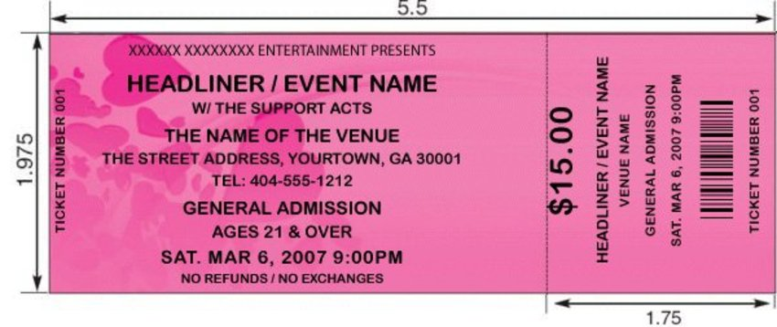 sample tickets for events - Alannoscrapleftbehind - admission tickets template