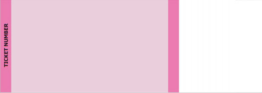 Pink Standard Horizontal Tickets by FreshTix Ticket Printing
