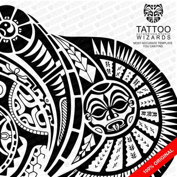 The Rock Vector Tattoo Template Stencil - Tattoo Wizards - tattoo template