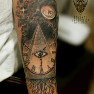 Pyramid Tattoo by Tattoo Artist Veer Hegde at Eternal Expression TAttoo & Piercing Studio Bangalore