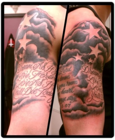 Cloud Tattoo Designs For Men
