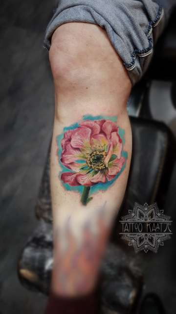 flower - floral - colour - realistic -tattoo