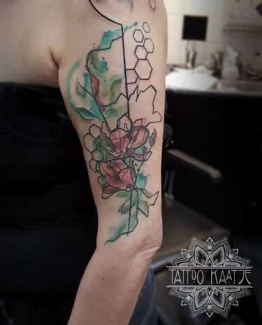 abstract - tattoo - flower - paint
