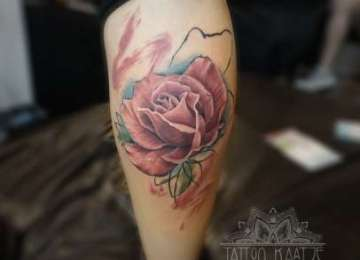 rose - pink - abstract - tattoo - realistic - flower