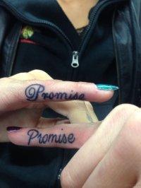 54 Likeable Promise Finger Tattoos