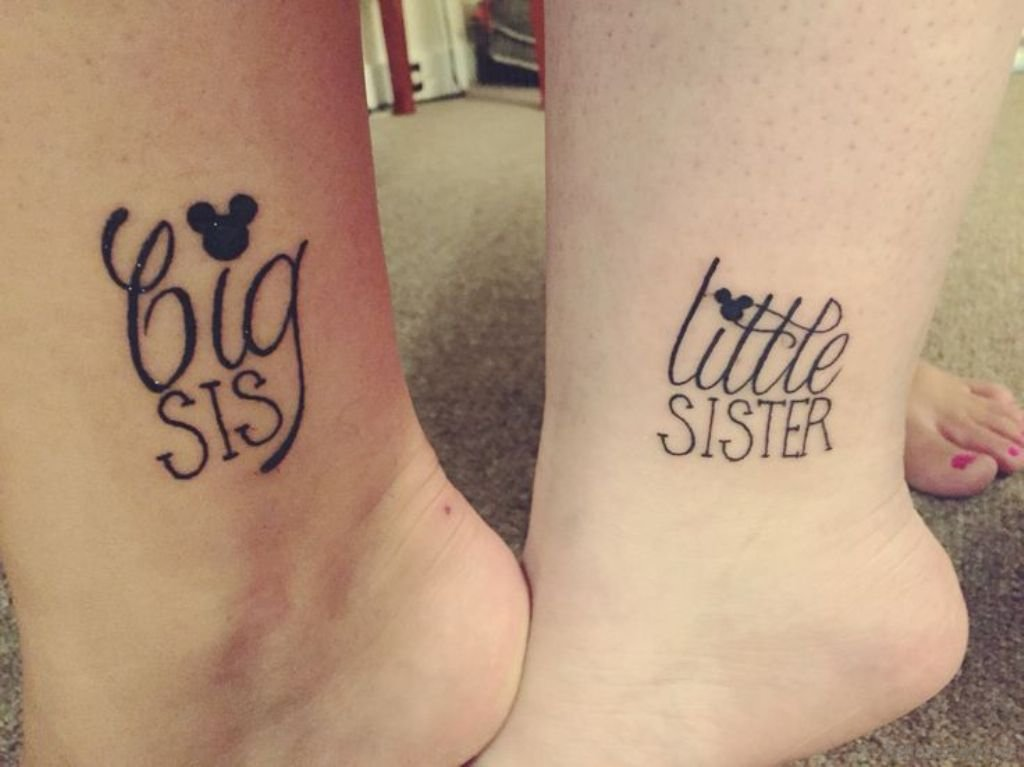19 Sweet Sister Tattoos On Foot