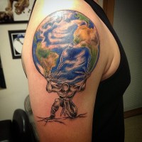 Atlas Tattoos Designs, Ideas and Meaning | Tattoos For You