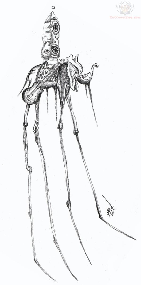 Tattoo Girl Wallpaper Cartoon Dali Elephant Tattoo Images Amp Designs