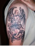 Angel And Devil Tattoo Designs