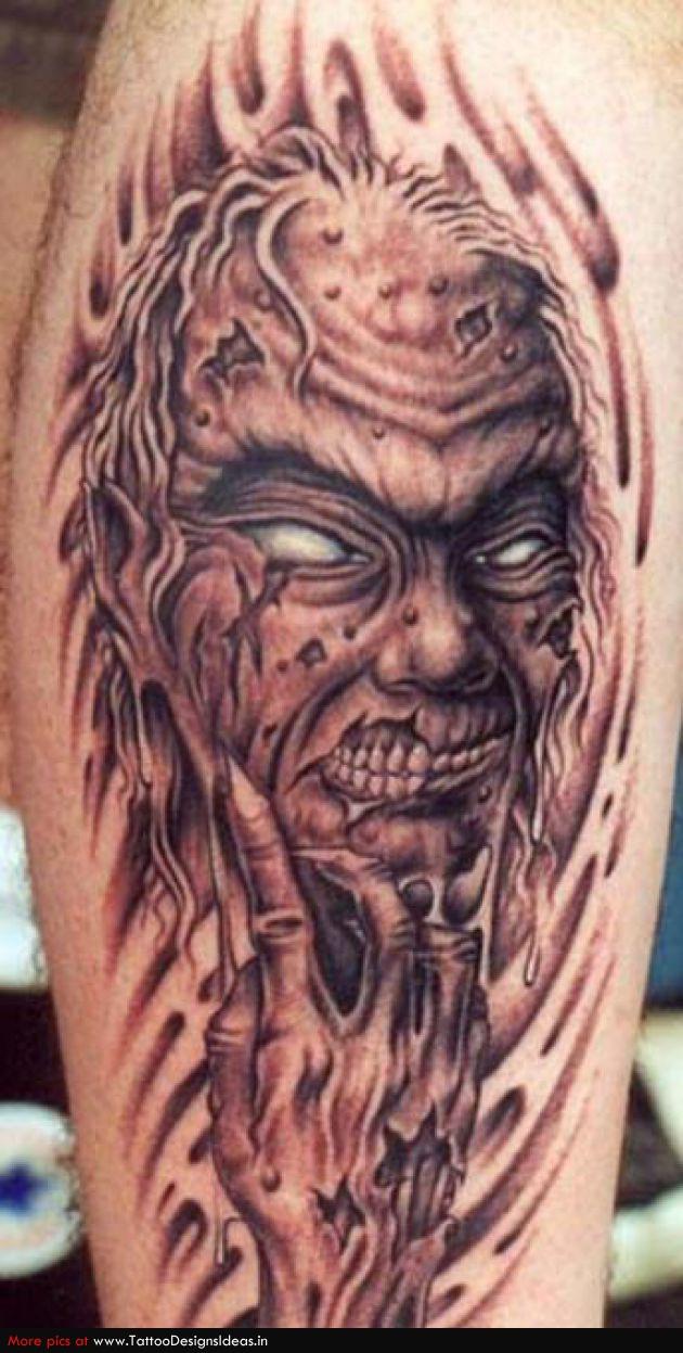 3d Celtic Cross Wallpaper Zombie Devil Head Tattoo