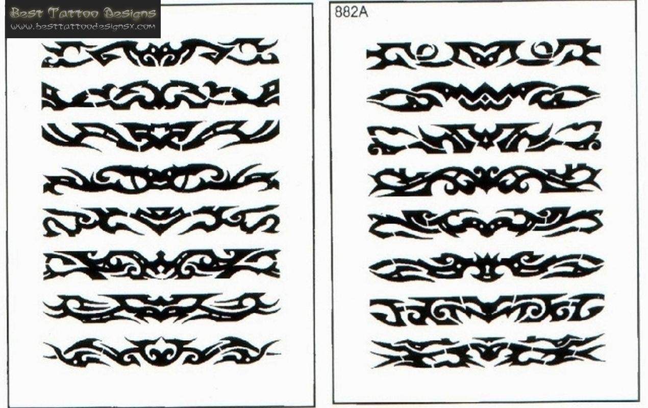 Black Tribal Armband Tattoos Design