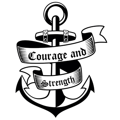 The Yellow Wallpaper Power Struggle Quotes Anchor And Strength Banner Tattoo Design