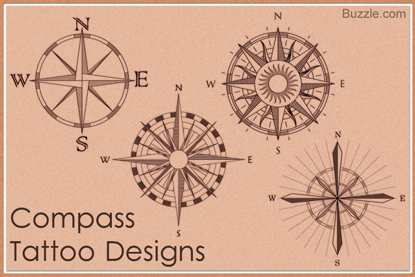 Latest Compass Tattoo Design Ideas