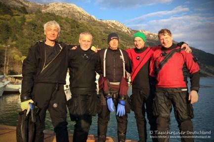 GUE TEC1 Team, Tauchen in Kroatien, Wracktauchen, GUE TEC1 Kurs