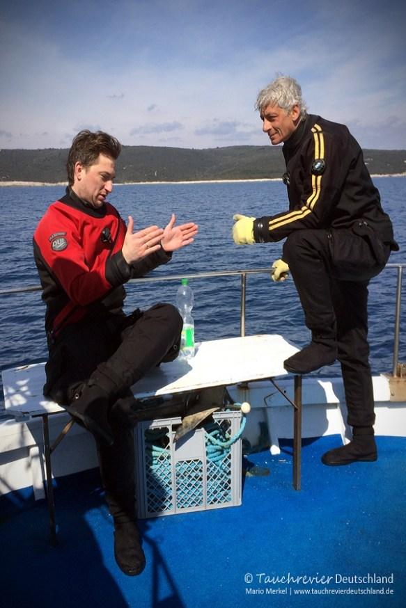 Henning und Mario, Tauchen in Kroatien, Wracktauchen, GUE TEC1 Kurs