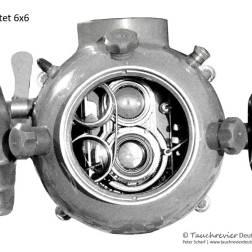 Flexatet 6x6, Unterwasser Gehäuse, Eigenbau, Historisches Tauchen