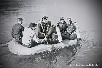 Suche Brennabor, Tauchen im Heinitzsee, Historisches Tauchen
