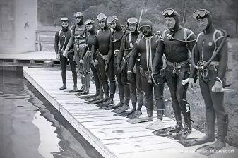 Tauchfreunde CSSR, Tauchen im Heinitzsee, Historisches Tauchen