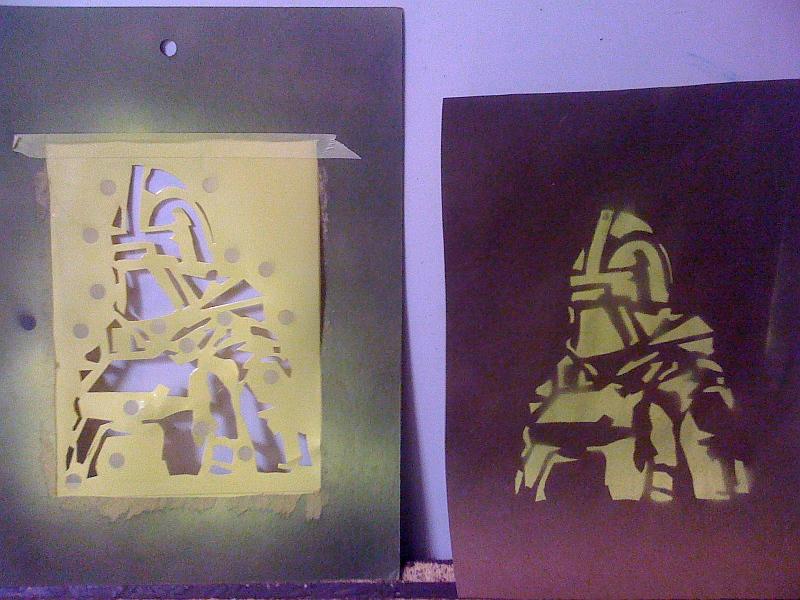 Homemade Targets (spray paint stencils)