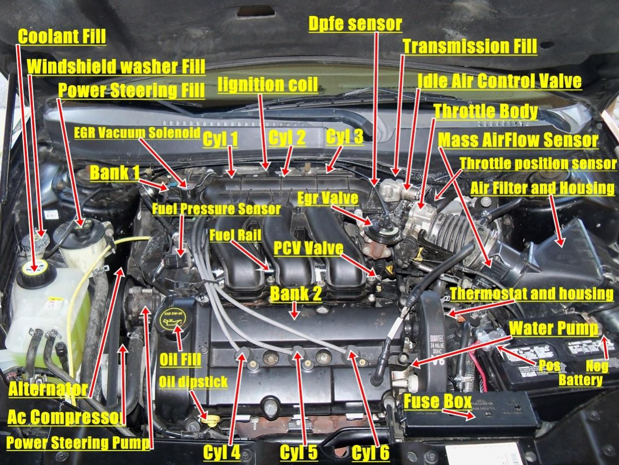 2000 taurus engine diagram