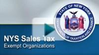 Sales tax exempt organizations