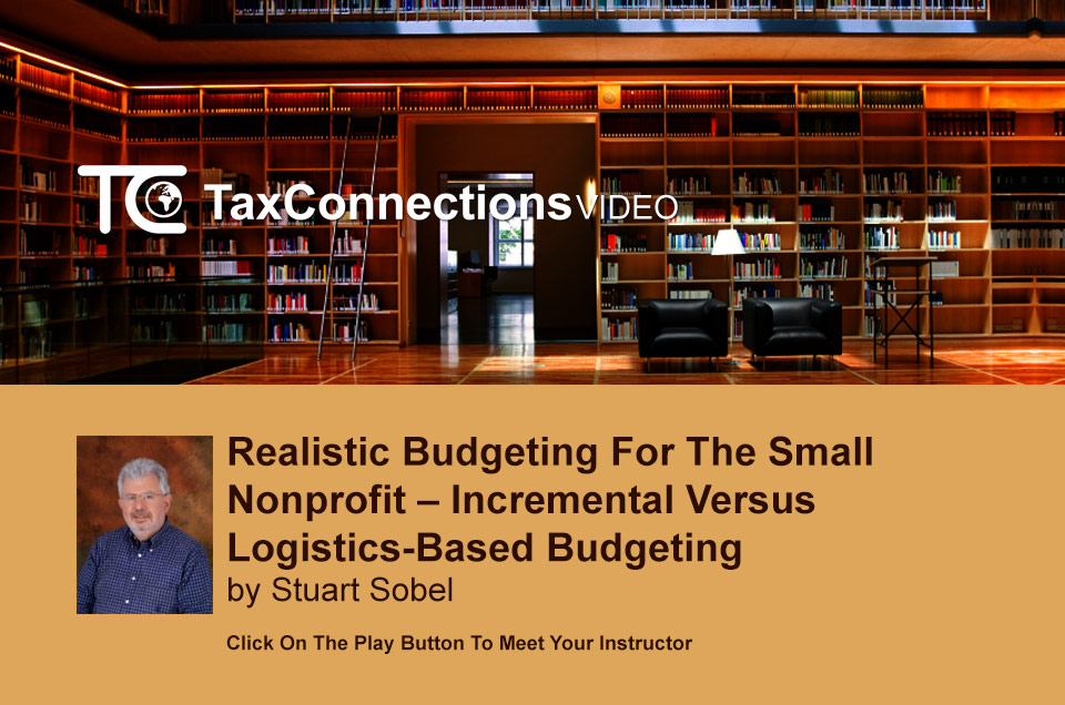 Realistic Budgeting for the Small Nonprofit - TaxConnections