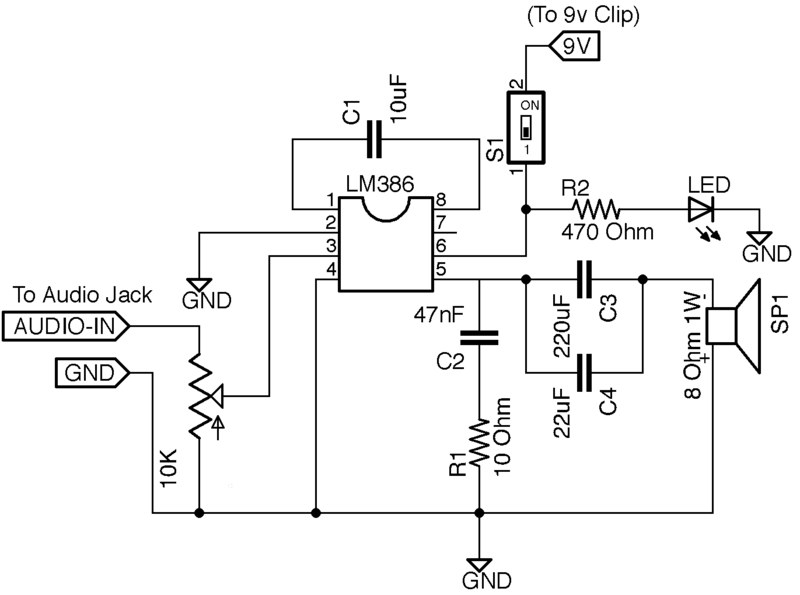 diy mini guitar amp circuit