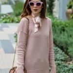 Pink Nude Tunic Sweater