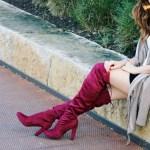 Red OTK Boots