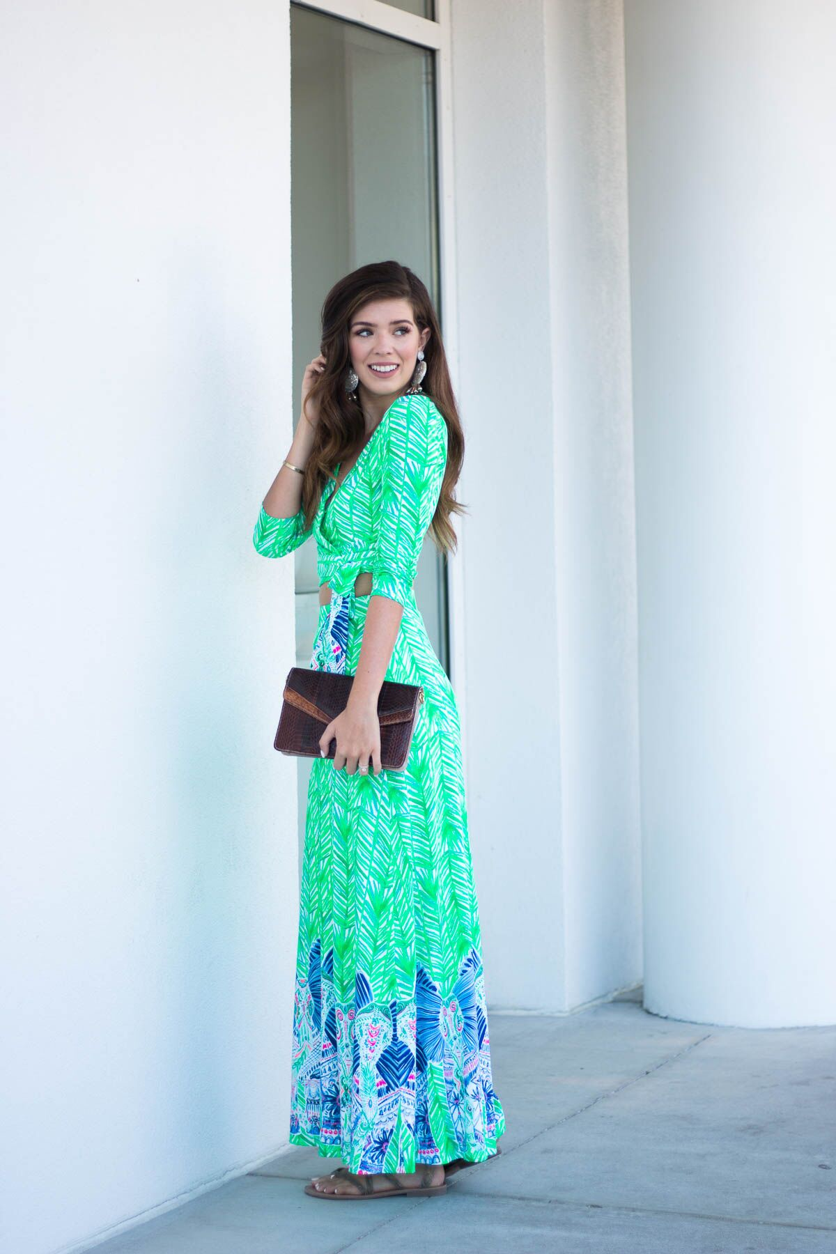 Lilly Pulitzer Crop Top and Maxi Skirt Set