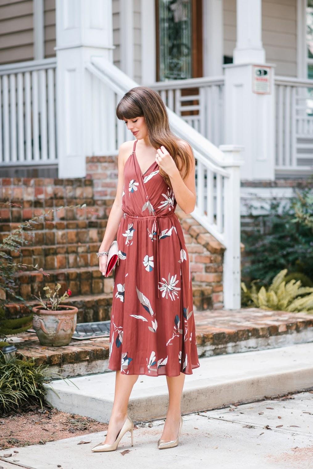 Fall Wedding Guest Dress - Tayler Malott