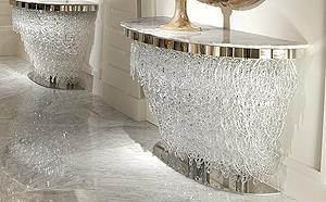 Luxury Designer High End Sculptural Console Tables