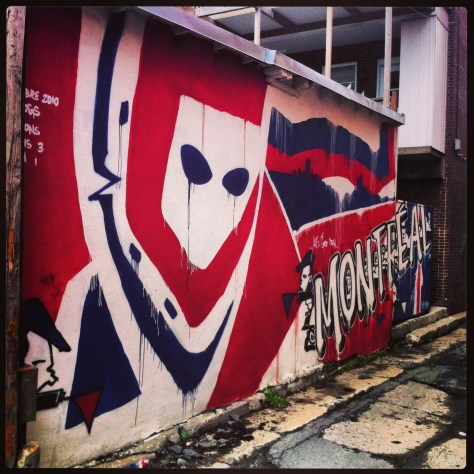 Ken Dryden Inspired Mural in an Alleyway off The Main