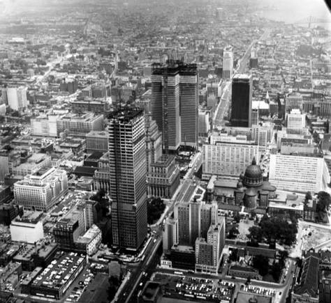 Montreal early 1960s, with CIBC Tower, Place Ville Marie and CIL House under construction.