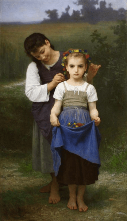 William-Adolphe Bouguereau - Parure des Champs : many Montrealers of a certain age are doubtless quite familiar with this painting.