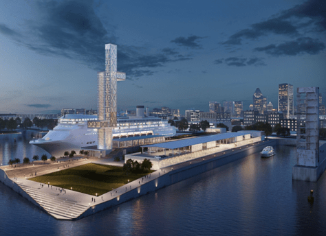 Conceptual rendering of Iberville Terminal and Alexandra Quay - Provencher Roy