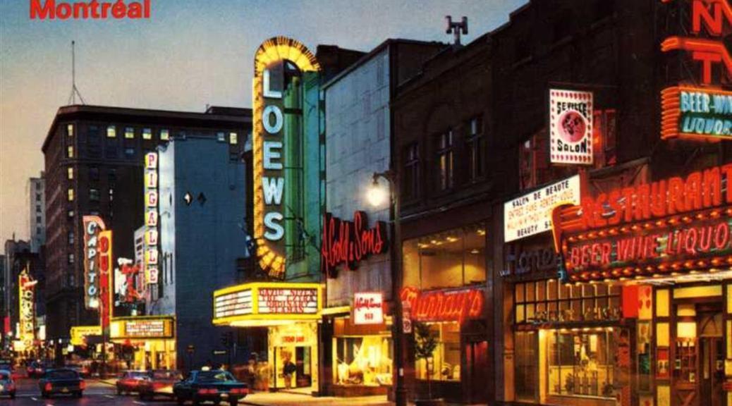 Rue Ste-Catherine Ouest, 1969 - Montréal