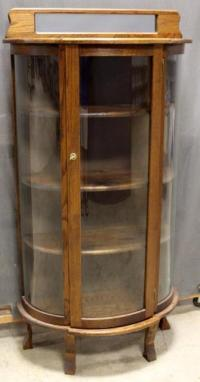 Curved Glass Curio Cabinet | Cabinets Matttroy