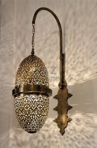 Moroccan Wall Sconce  Oblong Egg  Tazi Designs