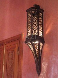 Moroccan Wall Sconce  Yousef  Tazi Designs