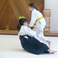 Manami (uke) and Reika (nage)