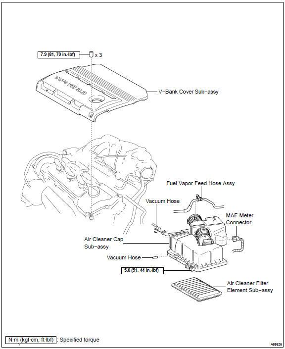 Toyota Camry Fuel injector assy (1MZ−FE/3MZ−FE) - Fuel