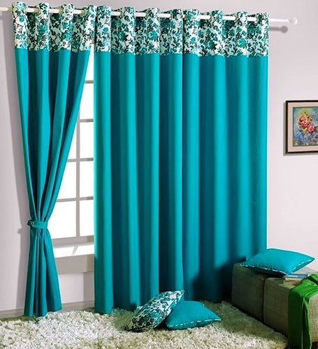 Turquoise is the new Black for your Living Room Home Decors - turquoise curtains for living room