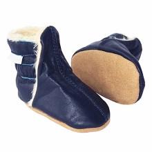 Bottines fourrées chaussons bebe enfant en cuir souple TchooC