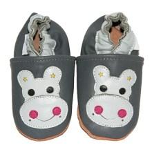 Chaussons bébé enfant en cuir souple Hippo TchooC