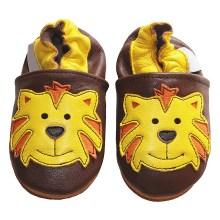 Chaussons bébé enfant en cuir souple Tigre TchooC
