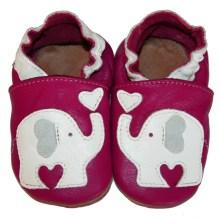 Chaussons en cuir souple bebe enfant Elephant