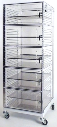 Acrylic Desiccator Storage Cabinets - High Density Storage