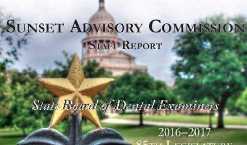 Sunset Commission Makes Decisions on State Board of Dental Examiners